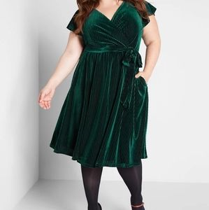 Modcloth Timeless Embrace Velvet Midi Dress 1X